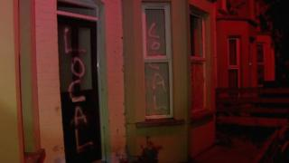 Graffiti was painted and windows were smashed at two properties in Walmer Street