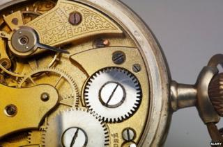 Inner workings of a pocket watch