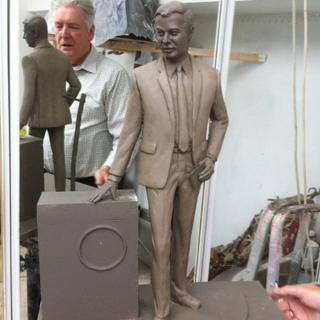 Epstein statue cast