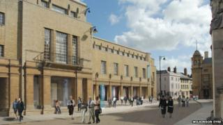 View of Weston Library from Broad Street, Oxford