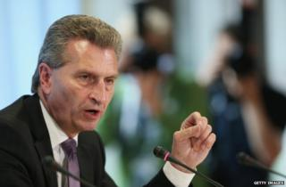 EU Energy Commissioner Guenther Oettinger in Berlin, 26 September