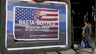 Anti-vulture funds poster in Buenos Aires, 24 Sep 14