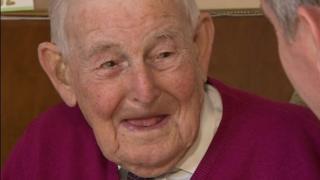 Bert Bullock, 102, from Newent, Gloucestershire