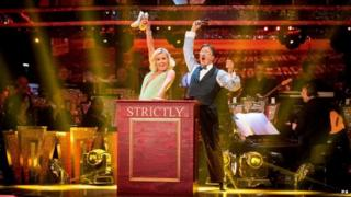 Natalie Lowe and Tim Wonnacott perform on Strictly Come Dancing
