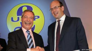 Mark Reckless with Nigel Farage