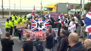 Protest in Dover