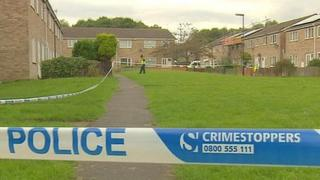 Scene of North Shields stab murder