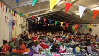 Brownies largest sleepover world record attempt