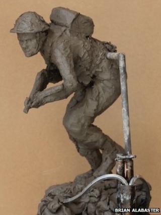 Model of Stan Hollis statue