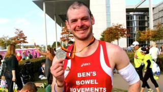Ben Ashworth with his medal