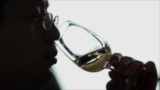 A consumer tasting an Australian wine