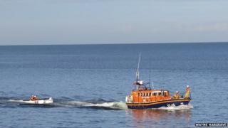 RNLI rescue, Isle of Man
