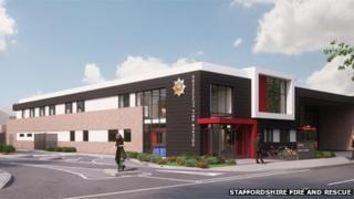 Artist's impression of new community fire station