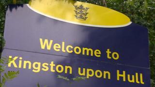 Hull City Council sign