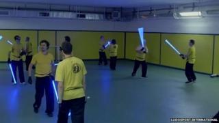 Learning lightsaber combat techniques