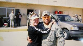 Omar Gonzalez with wife Samantha, date unknown