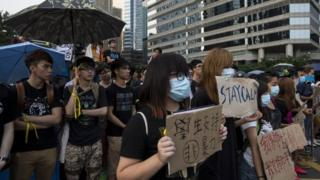 Protesters want Beijing to withdraw plans to vet candidates for the next Hong Kong leadership election in 2017