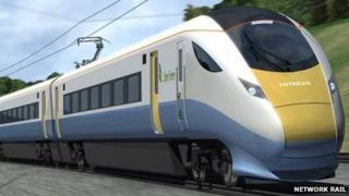 Electric train - artist's impression