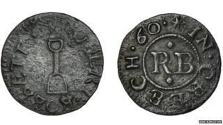 The unique Farthing issued by Robert Bobbett in Creech St Michael, near Taunton, in 1660