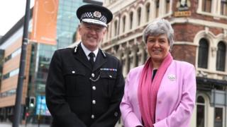 Merseyside Police Chief Constable Sir Jonathan Murphy and Merseyside PCC Jane Kennedy