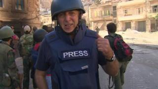Jeremy Bowen in Syria