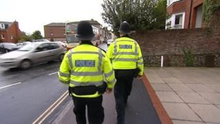 Kent police officers on patrol