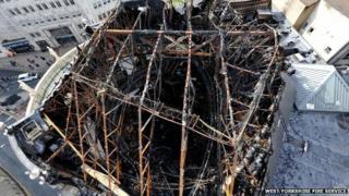 Damage to roof of Majestyk nightclub