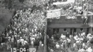 CCTV of fans at Hillsborough