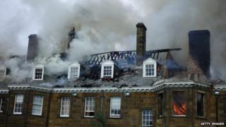 Crathorne Hall fire