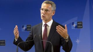 Nato's new secretary-general, Jens Stoltenberg, 1 Oct 14