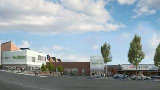 Computer image of redevelopment
