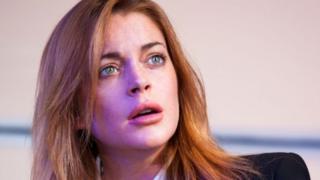 Lindsay Lohan as Karen in Speed-the-Plow