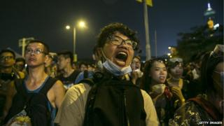 Hong Kong protestors have been camped out for a week
