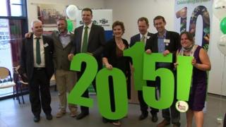 Supporters celebrating winning the European Green Capital award