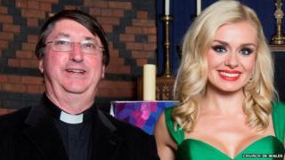 Canon Stephen Ryan and Katherine Jenkins
