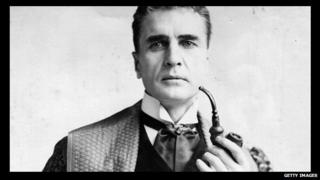 William Gillette as Sherlock Holmes in 1905