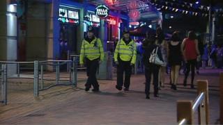 Police on Nottingham streets
