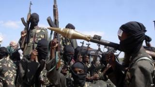 Al-Shabab fighters outside Mogadishu, Somalia (Archive shot)