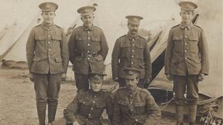Photo for WW1 exhibition in Salisbury Museum