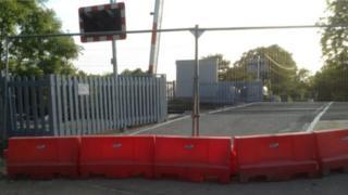 New barriers at Minety, nr Malmesbury