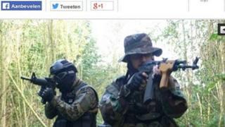 Screen grab of alleged jihadis in Ardennes - from Belgian nieuwsblad.be website