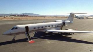 A Gulfstream jet