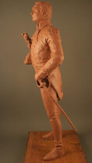 A model of the proposed statue of Sir Isaac Brock