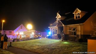 The Northern Ireland Fire and Rescue Service was called to Padraig McShane's house in Ballycastle overnight