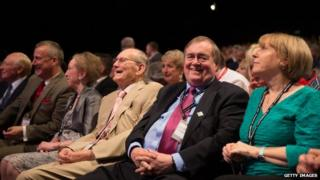 Lord Prescott in the crowd at the Labour Party Conference