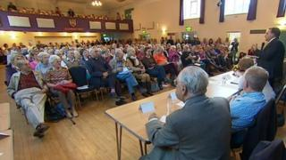 Public meeting in Axminster