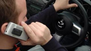 Mobile phone use whilst driving