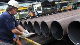 German steel factory