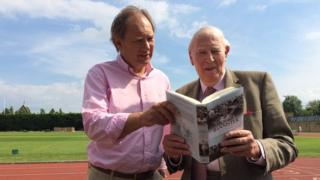 Sir Roger with race organiser Andrew Taylor