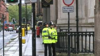 Police officers in Liverpool